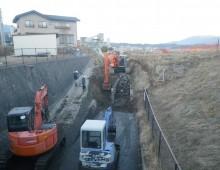 水路の改修工事