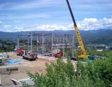 鉄骨造建物の建築工事