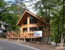 別荘の建築工事